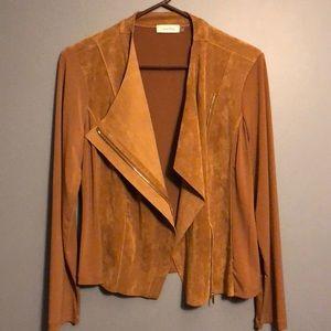 NWOT Calvin Klein Faux Suede Asymmetrical Jacket